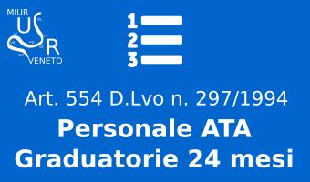 Personale ATA - Graduatorie 24 mesi