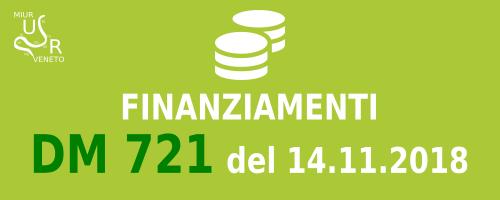 Finanziamenti DM 721/2018
