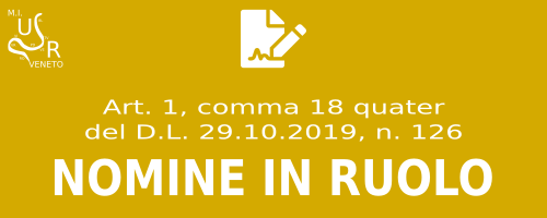 Nomine in ruolo DL 126/2019