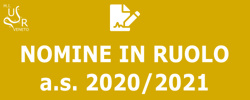 Nomine in ruolo a.s. 2020/2021