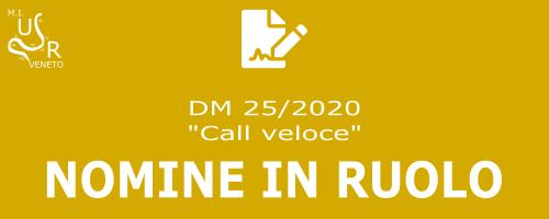 Nomine in ruolo - DM 25/2020