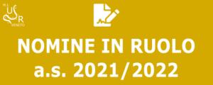 Nomine in ruolo 2021/2022